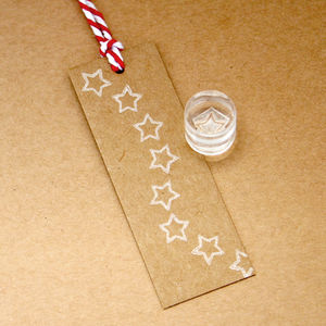 Tiny Star Outline Crystal Clear Stamp - christmas stamps