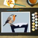 Robin Painting By Numbers Kit