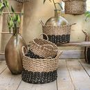 Set Of Three Rabat Straw Storage Baskets