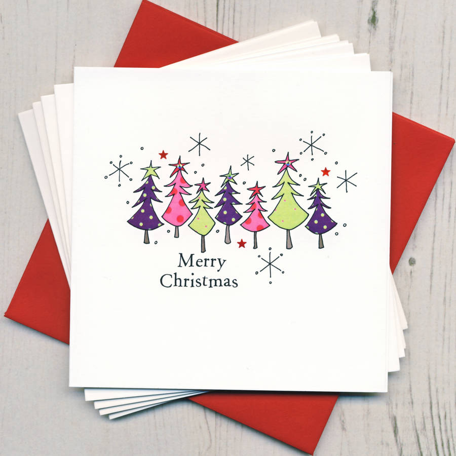Pack Of Five Christmas Cards By Eggbert & Daisy