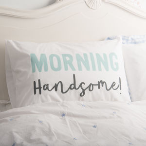 Couple's Matching Morning Pillowcases - bed linen
