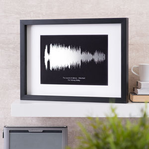 Personalised Metallic Foil Sound Wave Song Print - personalised