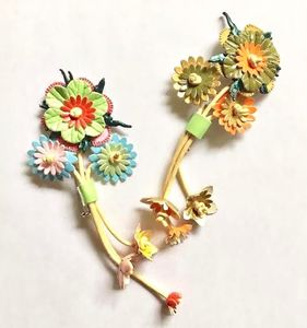 Flower Bouquet Brooch - fashion sale