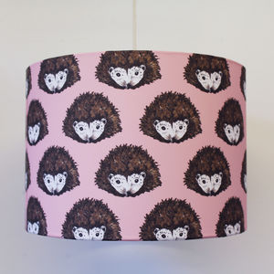 Pink Hedgehog Nursery Lampshade
