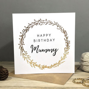 Personalised Foiled Winter Birthday Card - birthday cards