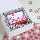 personalised Valentines gift soap by Lovely Soap Company