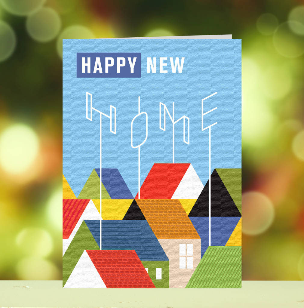 Happy new home greetings card by loveday designs happy new home greetings card kristyandbryce Image collections