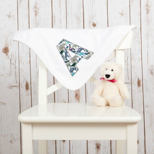 Personalised New Baby Liberty Zoo Blanket