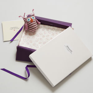 Woodland New Baby Gift Blanket And Card - gift sets