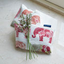 Microwaveable Lavender Wheat Warmer Indian Elephant