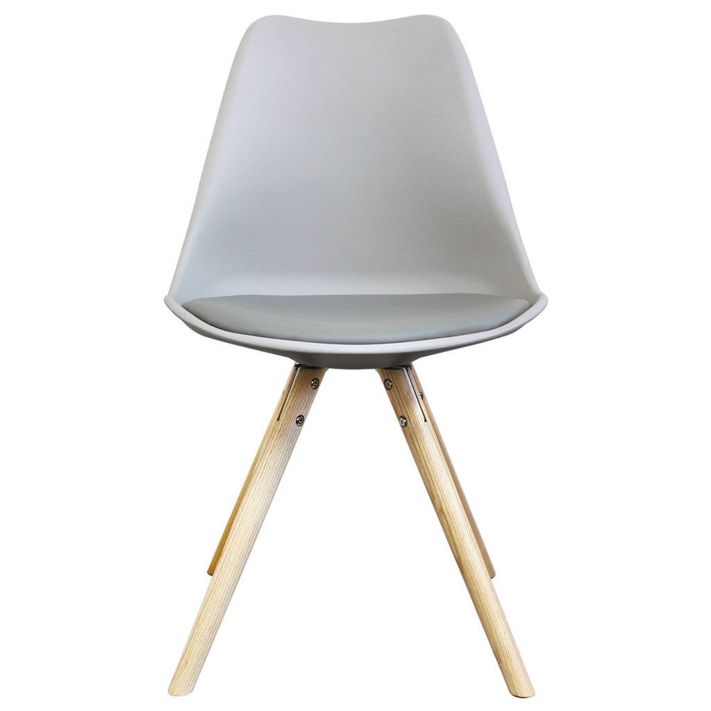 Light Grey Copenhagen Chair With Wooden Legs