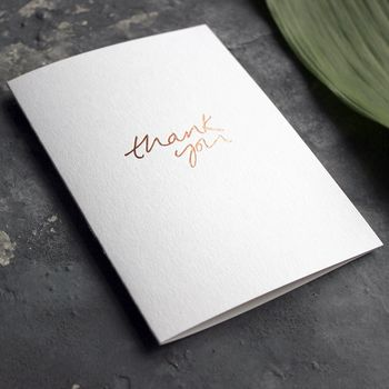 'Thank You' Rose Gold Foil Friendship Card