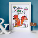 Nuts About You Personalised Print