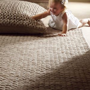 Fusion New Zealand Wool Rugs - natural bedroom