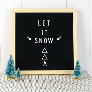 Contemporary Square Letterboard - decorative letters