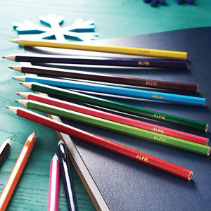 Personalised Colouring Pencils - shop the christmas catalogue