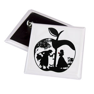 Snow White's Apple 38mm Square Badge