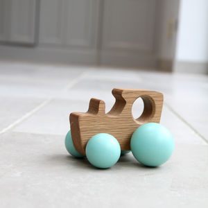 Oak Wooden Tractor Toy - wooden toys