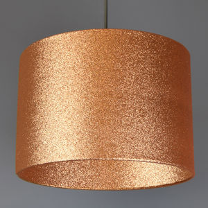 Copper Glitter Lampshade Glitter Or Metallic Lining - lampshades