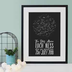 Personalised Star Map Print - dates & special occasions