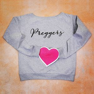 Personalised Preggers Slouch Jumper - jumpers