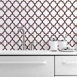 Oriental Two Kitchen Walls Backsplash Wallpaper