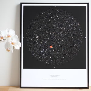 Personalised Map Of The Stars, Medium Size Print - engagement gifts