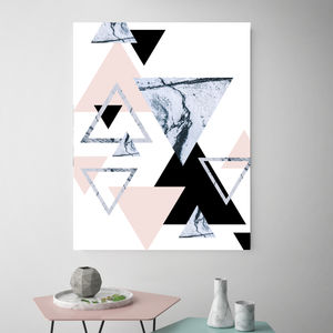 Blushing Triangles, Canvas Art - posters & prints