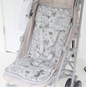 Personalised Graffiti Print Pram Liner - new in baby & child