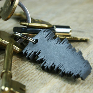 Favourite Song Sound Wave Keyring - summer sale