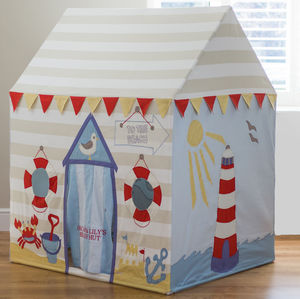 Large Children's Beach Hut And Seaside Play Tent - tents, dens & teepees