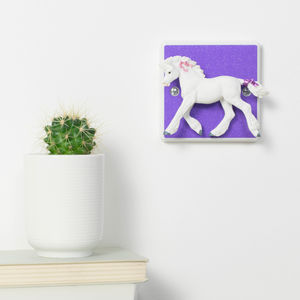 Glittery Purple Unicorn Light Switch