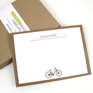 Personalised Bicycle Notecards - shop by category