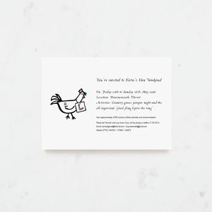 20 Cluck Cluck Hen Party Invitations - adults party invitations