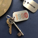 Personalised Birth Year Spotify Metal Keyring