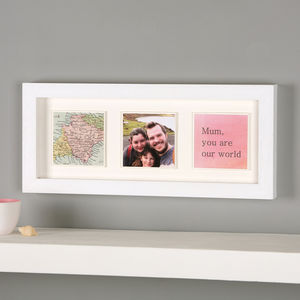 Personalised Map Photo Message Frame Print For Her - gifts for mothers