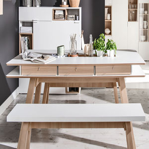 4 You Dining Table With Hidden Container In White - dining tables