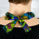 Chunky, Fabric Covered, Bead Necklace 'Jungle Cat'