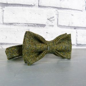 Boys Birdseye Tweed Bow Tie