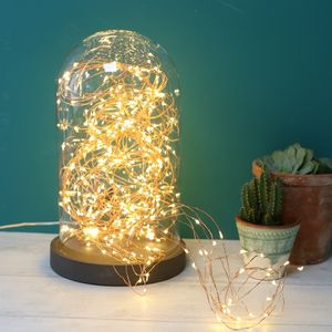 Copper Wire Waterfall String Lights 320 LED - festive scandi