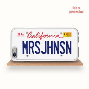 Personalised Californian Licence Plate iPhone Case
