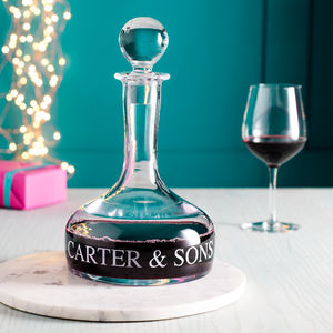 Personalised Ships Decanter - housewarming gifts