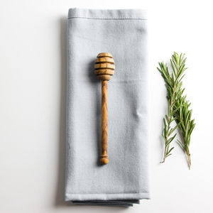 Traditional Olive Wood Honey Drizzle - wooden spoons