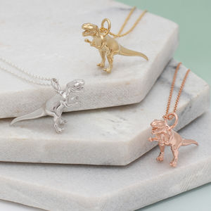 Sterling Silver Or 18ct Gold T Rex Dinosaur Necklace