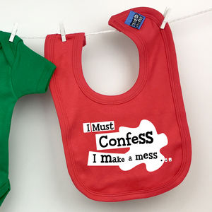 'I Confess I Make A Mess' Gift Boxed Bib - baby care