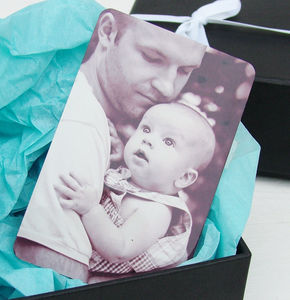 Aluminium Photo And Message Wallet Insert - personalised gifts for dads