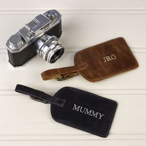 Leather Personalised Luggage Tag - women's accessories