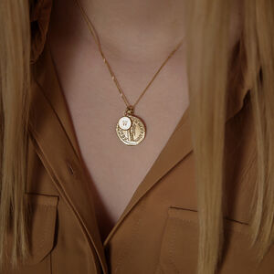 Personalised Golden Goddess Necklace In 9ct Solid Gold