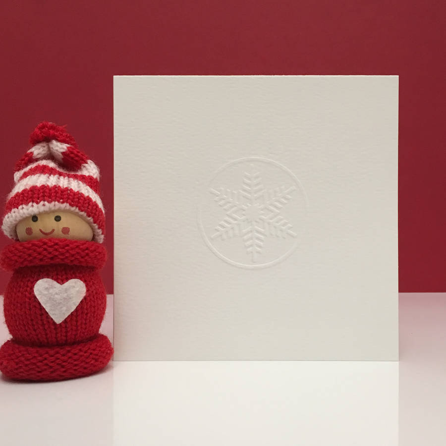 Hand Embossed Snowflake Christmas Cards By Clive Sefton