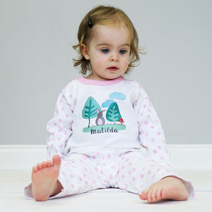 Personalised Woodland Children's Pyjamas - for under 5's